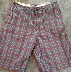 AE plaid shorts
